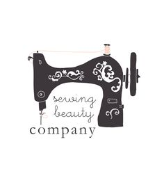 Premade Business Logo Design - sewing machine - small business owners - shop owners - sewing logo. $12.00, via Etsy.