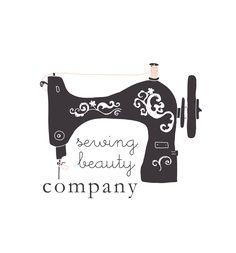 Premade Business Logo Design - sewing machine - small business owners - shop owners - sewing logo. $12.00, via Etsy.