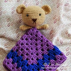 crochet_lovey or bear comforter Link to how she did it but no actual pattern