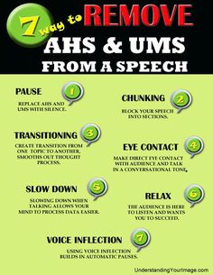 Remove the ahs and ums from your public speaking. 7 tips and trick to improving your communication.