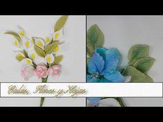 Calas + Flores + Hojas en Porcelana Fria - YouTube