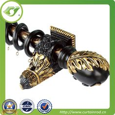 T901 Resin black curtain rods