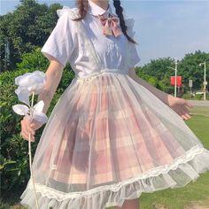 Sheer Kawaii Princess Lolita Pinafore Skirt - One Size