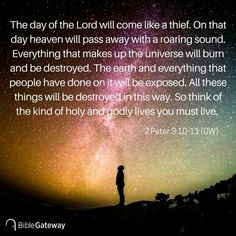 2 Peter 3:10-11