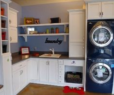 Stackable front load washers are one way to energy efficiency in the laundry room.