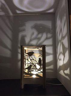 Tres pajaritos de mesa lámpara de escritorio por LessEgoMoreLove