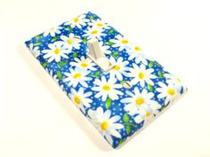 Blue Daisy Flower Light Switch Cover Children by ModernSwitch, $6.00