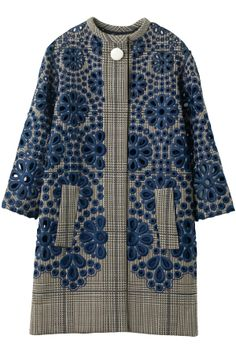 Louis Vuitton coat. Gorgeous embroidery. Would look great with jeans and high boots.