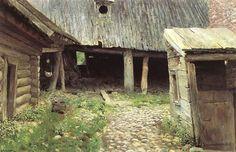 Исаак Левитан » Малоизвестные пейзажи, картины » Ветхий дворик