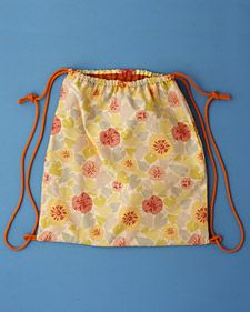 Make for swimsuits etc before summer camp. Washable drawstring nylon lined backpack. May need more than 1so we don't use school backpack for everything this summer