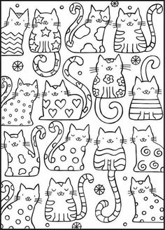 Adult Coloring Pages Cat from Animal Coloring Pages category. Printable coloring pictures for kids that you could print out and color. Have a look at our collection and printing the coloring pictures free of charge. Cat Coloring Page, Coloring Book Pages, Free Coloring Sheets, Kids Coloring, Colouring In, Colouring Pages For Kids, Coloring Pages To Print, Cat Quilt, Dover Publications