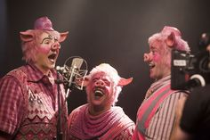 Ste Clough, Aaron Lee Lambert and Lee William-David as the Three Little Pigs