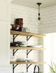 Smaller Doses of Black in the Kitchen