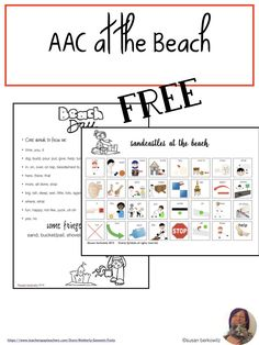 Superstars Which Are Helping Individuals Overseas Aac Use Is Best Taught In Context Of Genuine Activities. Take Learning To The Beach With This Fun Activity-Based Communication Board And Ideas For Building Language While At The Beach. Speech Language Therapy, Speech Therapy Activities, Language Activities, Teaching Activities, Speech And Language, Teaching Ideas, Communication Development, Language Development, Special Needs Students