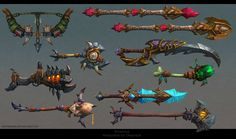 Polycount Forum - View Single Post - Weapons/Armors (Warlords of Draenor)