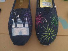 Disney Castle and Fireworks Toms...i love TOMS!!