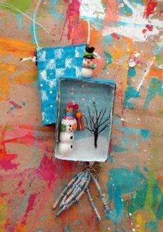 A Creative Dream: Let's finish the match box ornament...