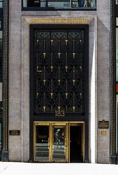 Madison Belmont Building - Art Deco entry by Edgar Brandt