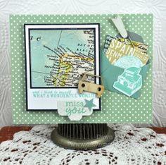 Creative travel card by Dawn McVey!