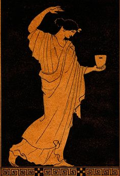 Maenad-with-a-Skyphos-vase-painting
