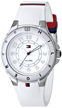 Tommy Hilfiger Women's 1781271 Stainless Steel Watch with White Silicone Band *** Find out more about the great watch at the image link.