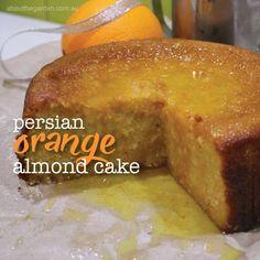 Presian orange and almond cake - gluten free cake recipe.indd Presian orange and almond cake - Gluten Free Cakes, Gluten Free Baking, Gluten Free Desserts, Gluten Free Almond Cake, Gluten Free Biscuits, Flourless Orange Cake, Flourless Cake, Patisserie Sans Gluten, Dessert Sans Gluten