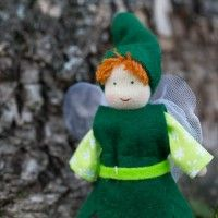 Papa Fairy Waldorf Doll. Handmade in Europe for Bella Luna Toys.