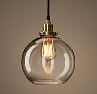 Glass Café Filament Pendant - wet bar? 99