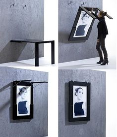 A picture and a table - if you DIY you could put a much nicer looking picture