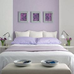 Beautiful Main Bedroom Design 2012 with Purple