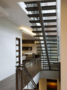Photo of Brown Modern Stairs project  by Nicholas Design Collaborative, Ltd.