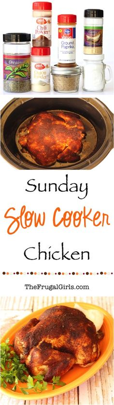 Crockpot Whole Chicken Recipe! ~ from TheFrugalGirls.com ~ Cooking a whole chicken in your Crock Pot is easier than you think!  This simple and delicious chicken is perfect for a Sunday Slow Cooker Supper! #slowcooker #recipes