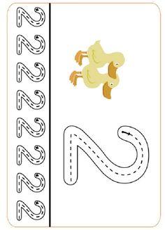 Preschool Writing, Numbers Preschool, Preschool At Home, Preschool Worksheets, Preschool Learning, Writing Numbers, Math Numbers, Learning Numbers, Kindergarten Coloring Pages