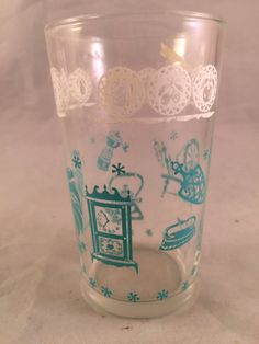 Vintage SWANKY SWIG Style 1950's Era Juice Glass by thecherrychic