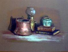 """Tableau (Pastel sec) """"Cuirs et cuivres de Claude"""" par l'artiste ..."""