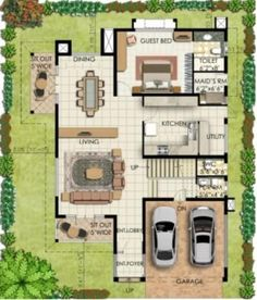 Bungalow House Plans | Bungalow Map Design | Floor Plan India ...