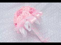 Роза для Топиарий и свадебных букетов./Своими руками. Видео /Ribbon Flower / DIY Kanzashi - YouTube