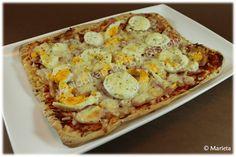 Pizza cu tofu i gluten Dessert Drinks, Dessert Recipes, Desserts, Sin Gluten, Paninis, Pasta, How To Eat Better, Hawaiian Pizza, Diets