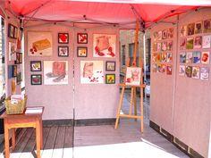 DIY art panels for outdoor display.