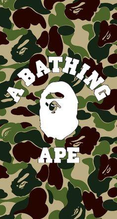 Bape Wallpaper Iphone, Camo Wallpaper, Bape Wallpapers, A Bathing Ape, Poster Ideas, Thrasher, Street Fashion, Mockup, Streetwear