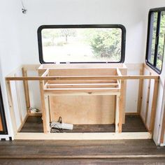 We're obsessed with this space-saving DIY expandable table that's hidden when not in use, but transforms into a desk or table in under a minute! Crafts For 3 Year Olds, Arts And Crafts For Adults, Rv Cabinets, Modern Cabinets, Media Cabinet, Cabinet Space, Crafts To Do When Your Bored, Expandable Table, Camper Storage