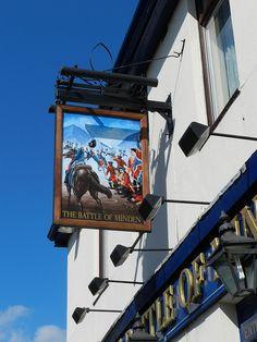 'The Battle of Minden' Pub Sign - Portsmouth