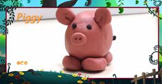 Clay Piggy Art by Laughing Dots