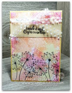 This week for Freshly Brewed Projects from the Latte Girls we are creating with the gorgeous Dandelion Wishes Stamp Set from Stampin' Up! Hand Made Greeting Cards, Making Greeting Cards, Greeting Cards Handmade, Dandelion Wish, Shabby Chic Cards, Watercolor Cards, Watercolour, Beautiful Handmade Cards, Card Tutorials