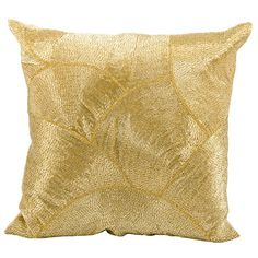 I pinned this Mina Pillow in Gold from the Graphic & Metallic event at Joss and Main!