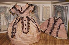 *** Wonderful Huret /Rhomer style Dress 1880*** from theantiquecarousel on Ruby Lane