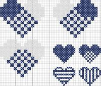 Heart crosstitch