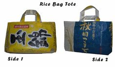 Recycled Rice Bags