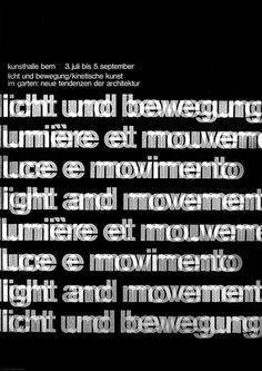 Peter Megert, Poster for an exhibition on kinetic art, 1965.