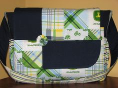 Made to Order John Deere Diaper Bags and Matching Changing Pad. You Choose the Color. $40.00, via Etsy.
